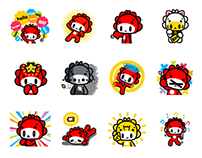 Monster Little - QiQi LINE stickers