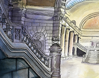 State Capitol Watercolor