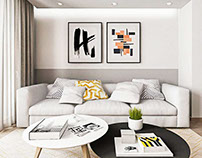 Living room and bedroom design