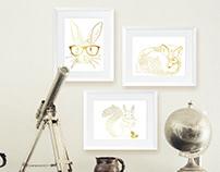 Illustration for home decor online store