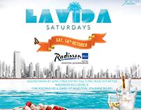 LaVida Saturdays event artwork pack for Encore Live