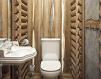 Брутальный туалет,в загородном доме
