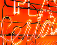 3D Neon Typographic Treatment