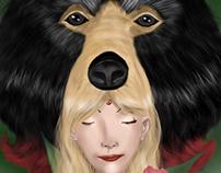 Totem bear head
