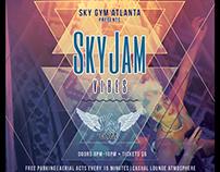 Sky Gym event Flyer for Sky Jam Vibes