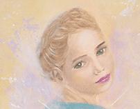 Ilustração em tinta acrílica sobre tela