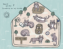 Cats home island calendar| Illustration |讀貓園月曆插畫
