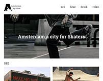 City Guide Website for Interactive Media Design class