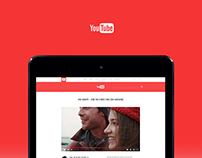 Youtube UI Concept for iPad