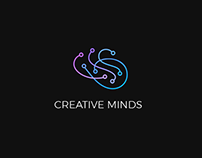 Creative minds logo design