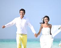 Dimitry & Ayu Wedding at Maafushi, The beach Island