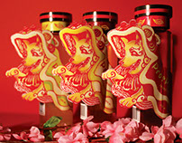 Chinese New Year Beverage Label Design