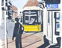 Tram stop Frankfurter Tor