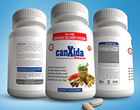 canXida label Bottle Mockup