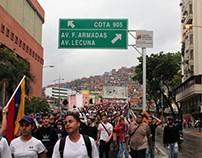 Manifestación opositora en el oeste de Caracas 13 abril