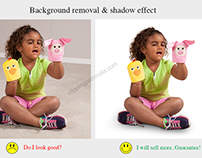 Background Removal and Shadow Effect