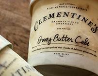 Clementine's Creamery branding + packaging
