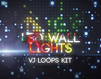 LED Lights Wall VJ Loops Kit
