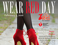 "2015 American Heart Association ""Wear Red Day"" Magazine"