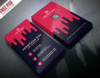 Free PSD : Creative Digital Agency Business Card PSD