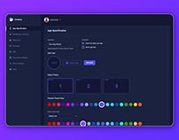 Dark Dashboard Design (Adobe XD)