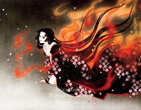 "Dojoji ""Flames of flowers"" / Original Works"