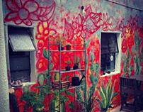 """Decoración muros/fachada de """"Beetroot"""" ."""