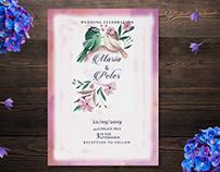 Watercolour Wedding Invitation card