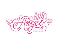 Hand Lettered Girls' Dress Boutique Logo