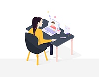 Webmeeting illustration