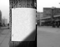 Utility Pole Flyer / Poster - Mockup