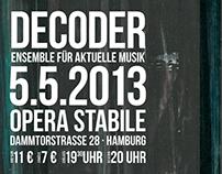 Decoder: flyer design