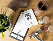 Hostel Swanky Mint Price List and Price Holder Design