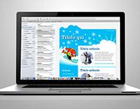 Modello Newsletter per scuola di sci per ragazzi