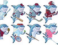 Sharks Wearing People Clothes