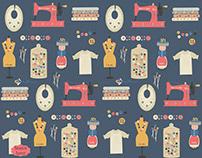 sewing supplies pattern