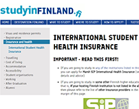 International Student Insurance Project