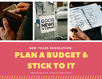 New Years Resolution: Plan A Budget & Stick To It