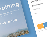 donothing Branding, Website, and Book Cover