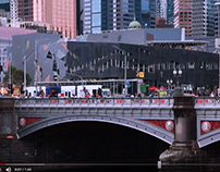 Tiny snapshot of life in the City Of Melbourne