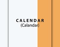 MINIMAL CALENDAR DESIGN AND MISPRONOUNCED MONTHS