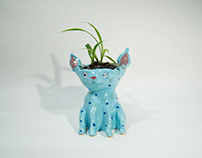 Blue Cat Planter