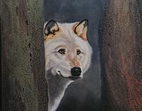 Inquisitive - acrylic painting