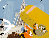Illustrations for Louis Vuitton ShangHai exhibition