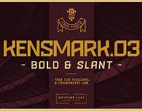 KENSMARK 03 - FREE BOLD & SLANTED DISPLAY TYPEFACE