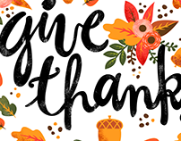 Give Thanks//Typography