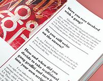 Magazine Layout Concept: Artist Bio
