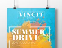Vincit - Summer Drive Poster Design