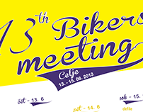 Posters for 3 different bikers meetings