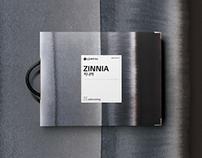 "LG Hausys _ Z:IN sample book "" White Square Label """